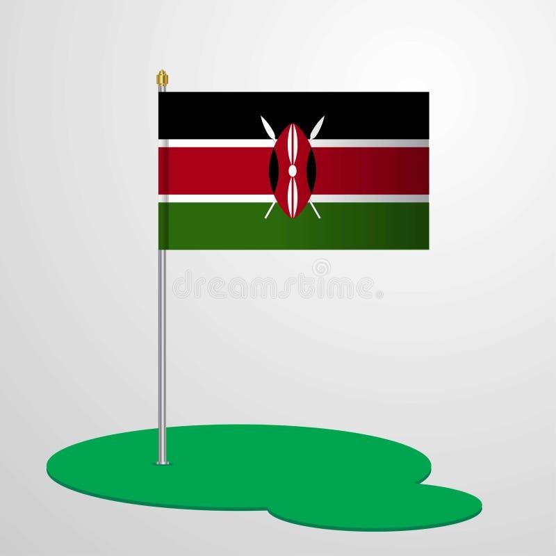 肯尼亚旗杆 皇族释放例证