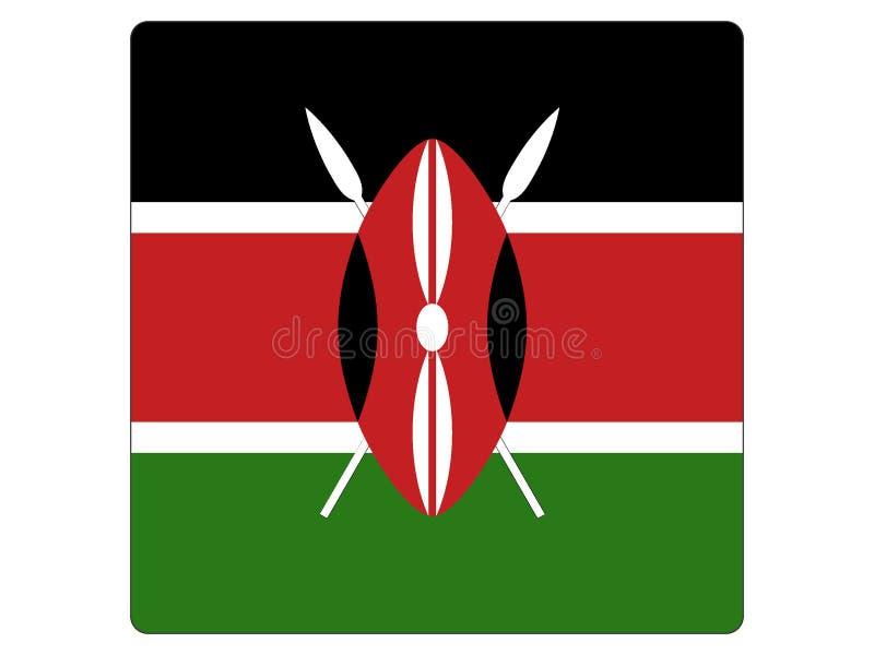 肯尼亚的方形的旗子 向量例证