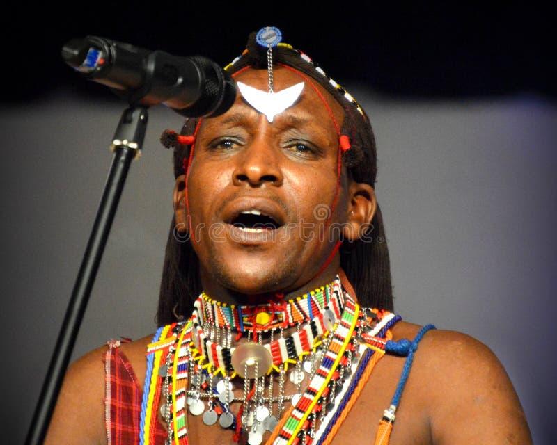 从肯尼亚的男性歌手 库存照片