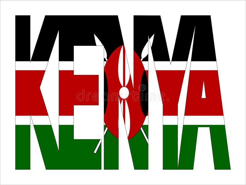 肯尼亚重叠的文本