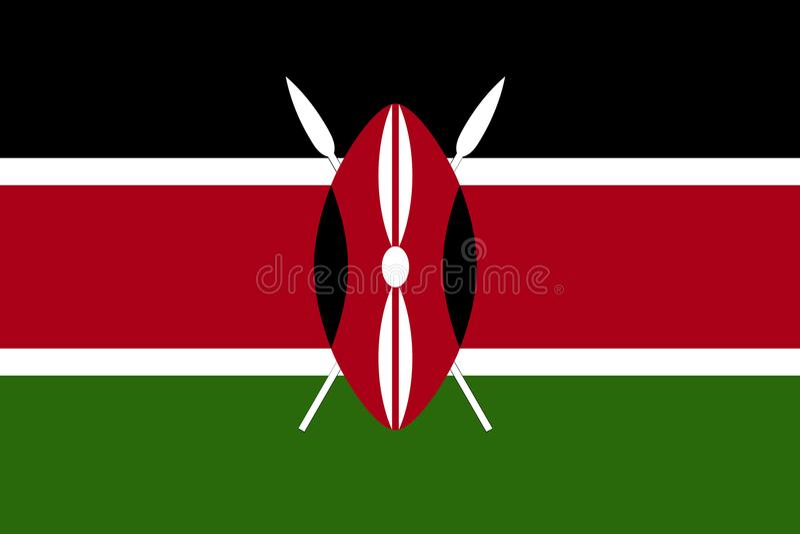 肯尼亚,传染媒介肯尼亚的旗子旗子 库存图片