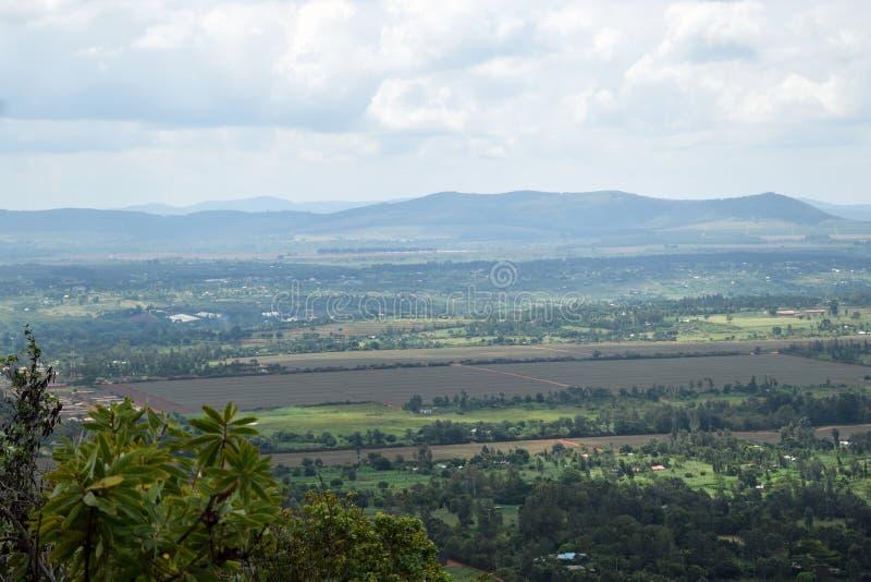 肯尼亚Thika的风景优美的乡村风景 免版税库存照片