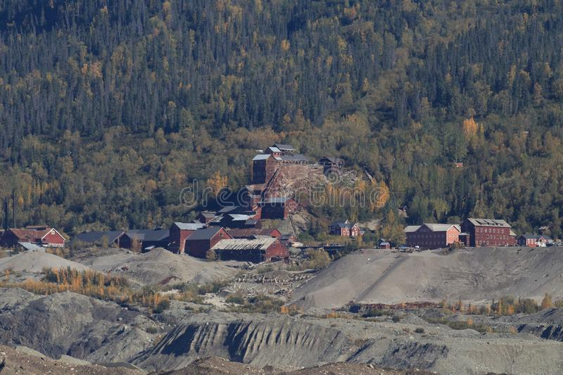 肯尼科特铜矿,兰格尔 — 圣埃利亚斯NP,阿拉斯加 免版税图库摄影