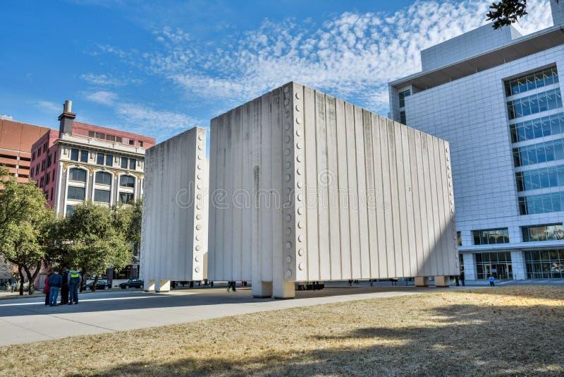 肯尼迪纪念品在达拉斯,TX 图库摄影