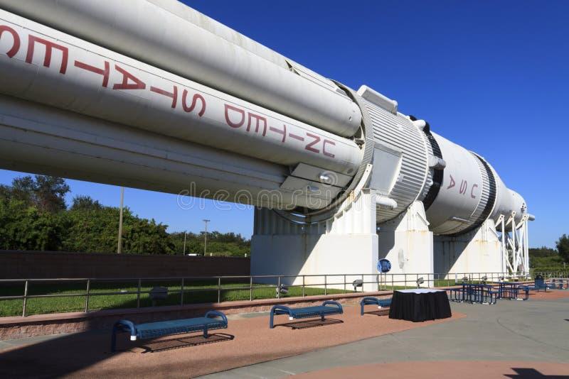 肯尼迪航天中心火箭队庭院 免版税图库摄影