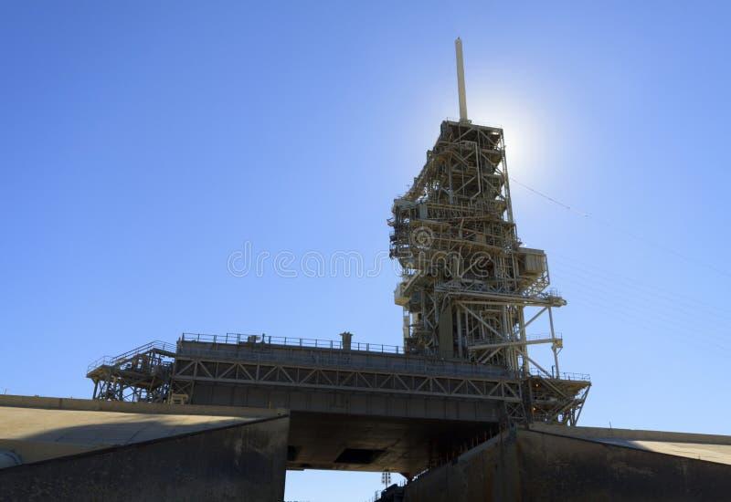 肯尼迪航天中心的发射台39A 免版税库存照片