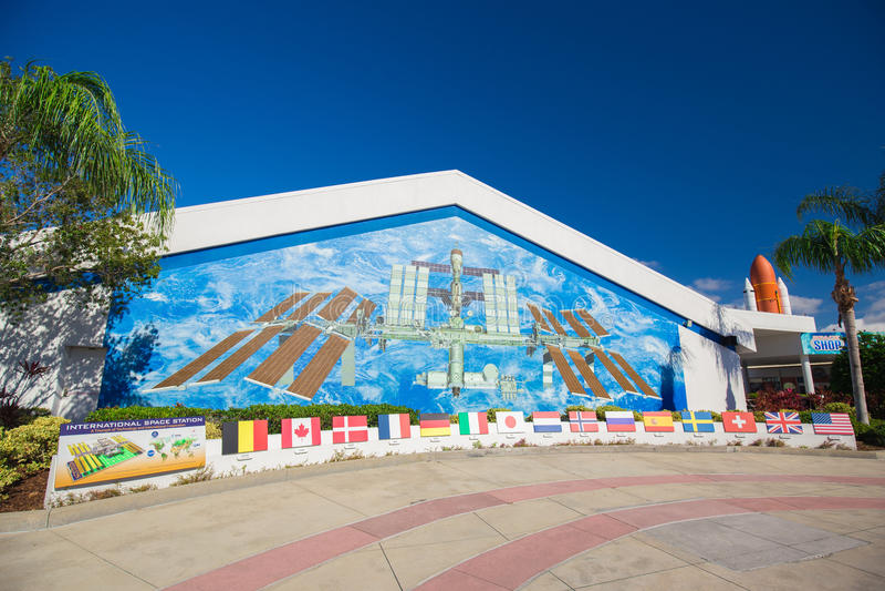 肯尼迪航天中心 卡纳维尔角,佛罗里达,美国 免版税库存照片