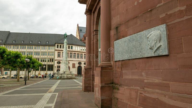 肯尼迪记忆在法兰克福 免版税库存照片