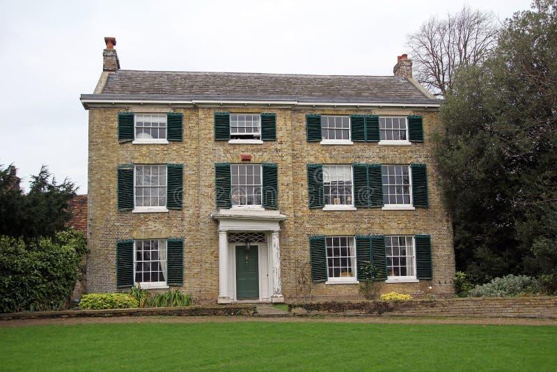 肯特英王乔治一世至三世时期期间庄园住宅 免版税库存图片