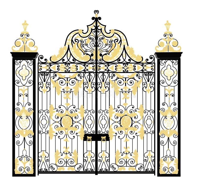 肯辛顿宫殿,伦敦,团结的Kingdon门  库存图片