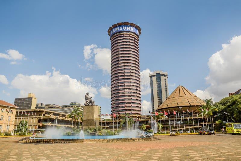 肯雅塔国际会议中心在内罗毕,肯尼亚 免版税库存照片