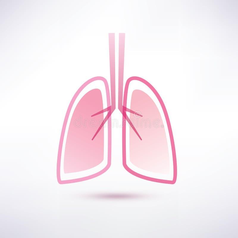 肺传染媒介标志 库存例证
