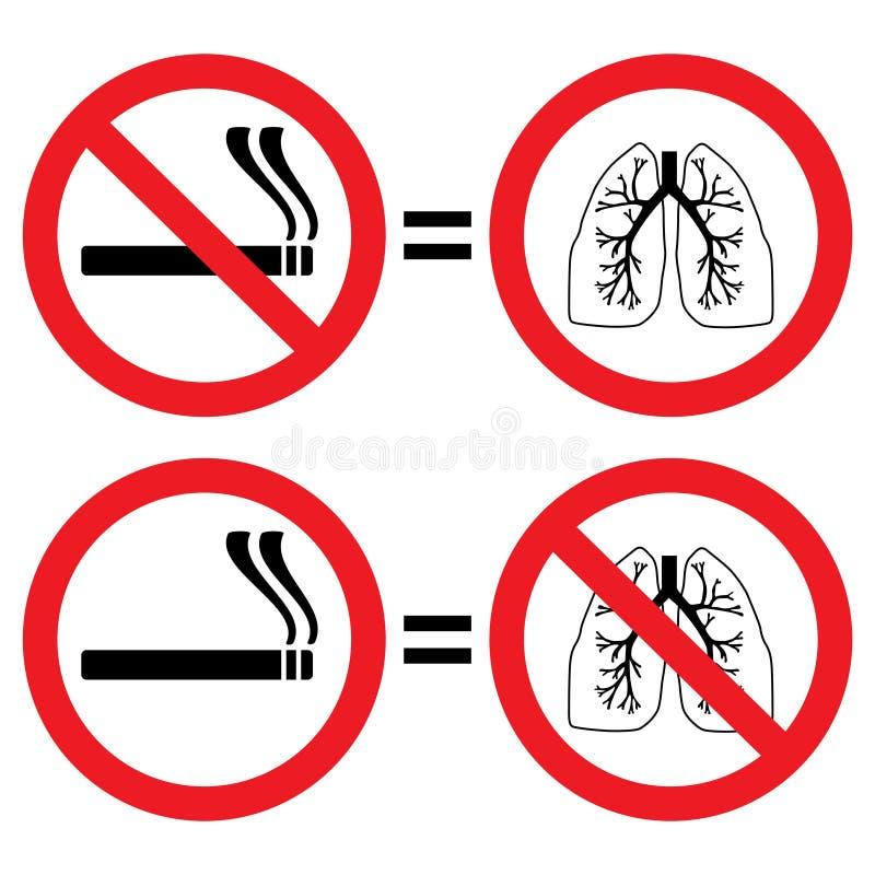 肺保护符号抽烟 皇族释放例证