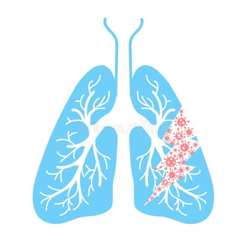 肺命中象  向量例证