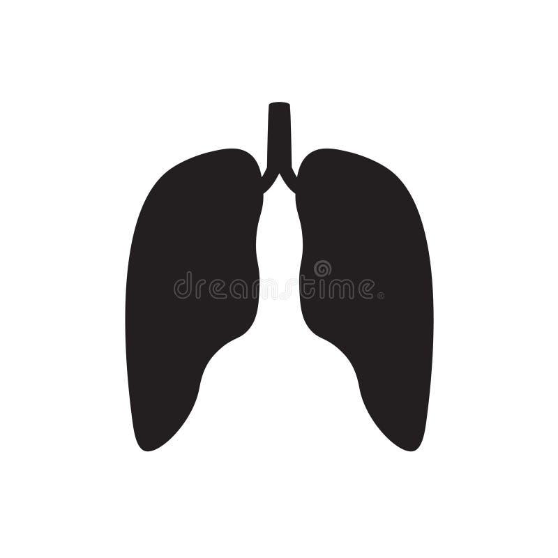 肺尘病象 库存例证