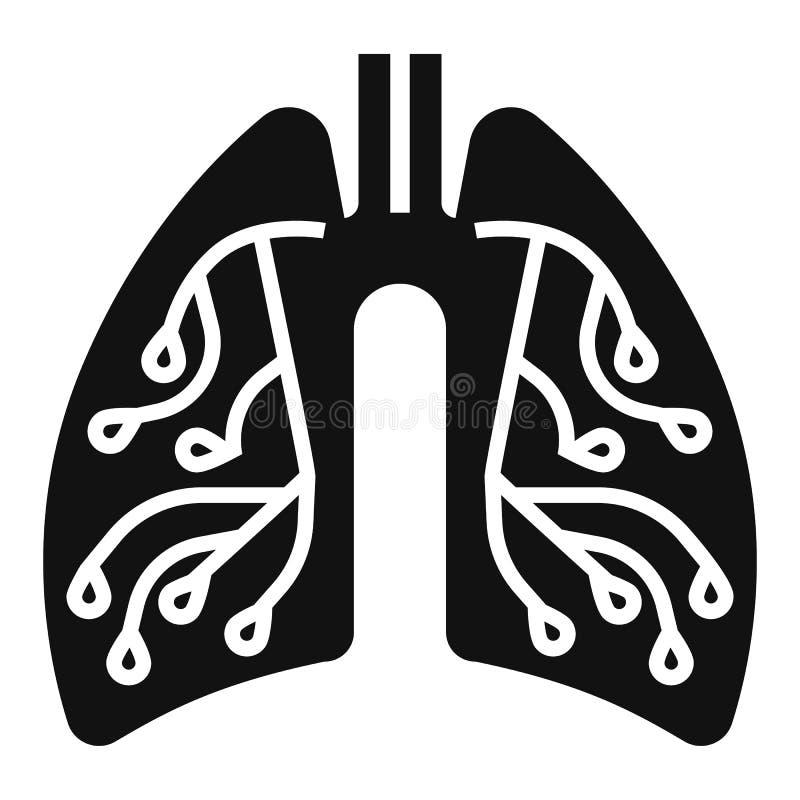 肺炎肺象,简单的样式 库存例证