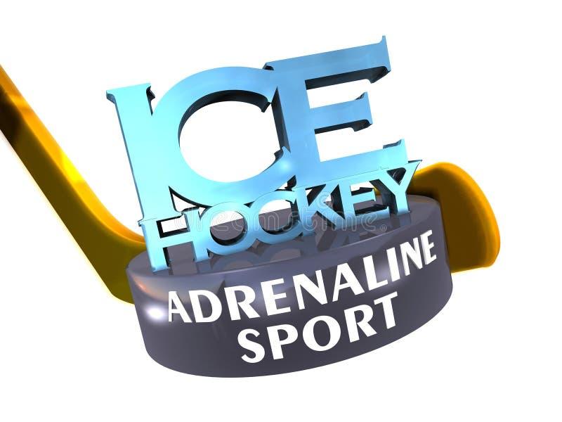 肾上腺素曲棍球冰体育运动 库存例证