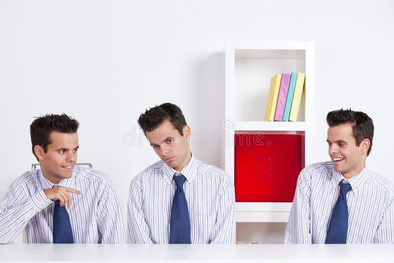 胁迫的企业工作者 免版税图库摄影
