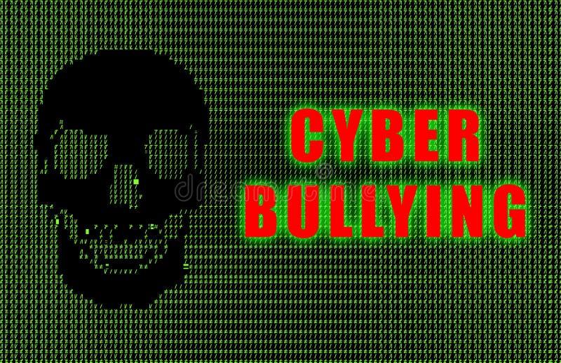 胁迫的cyber 向量例证