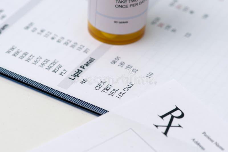 胆固醇 免版税库存图片