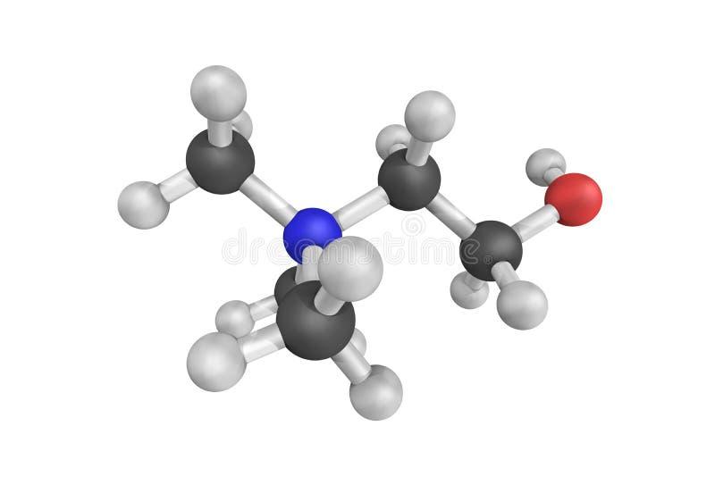 胆碱,在许多作用incl介入的水溶性维生素 库存照片