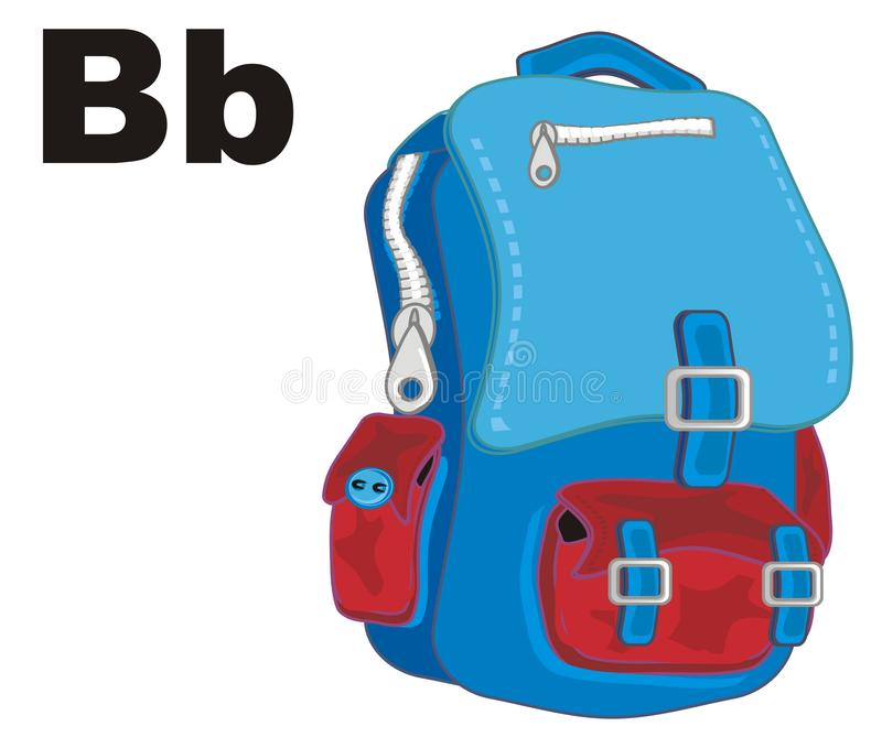 背包和信件b 向量例证