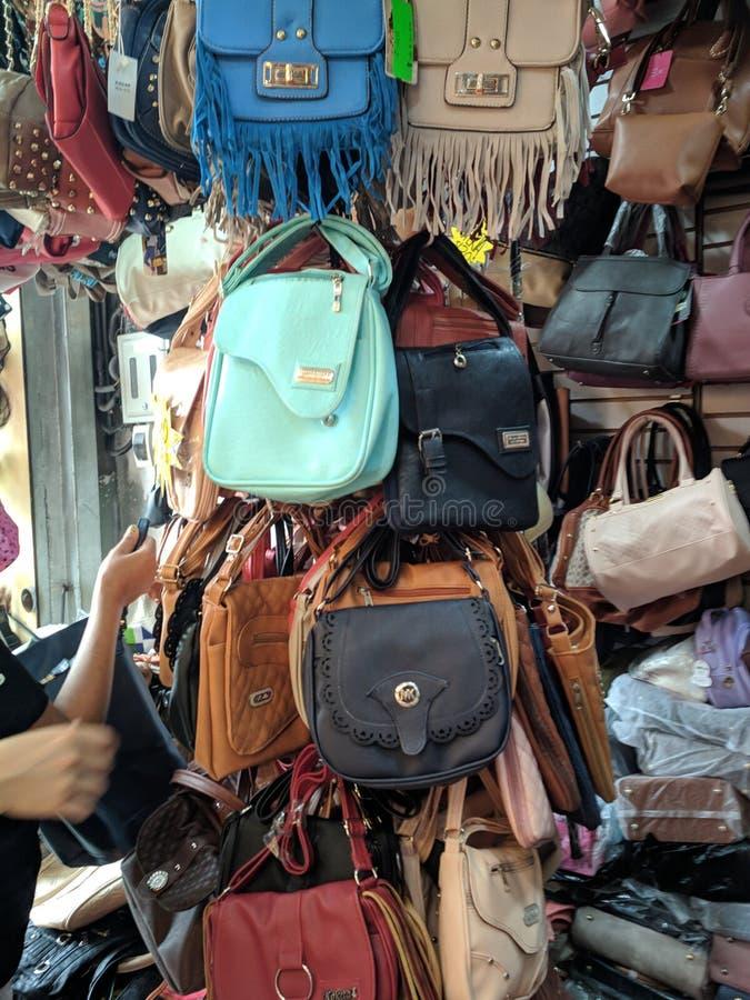 背包和袋子 免版税库存照片