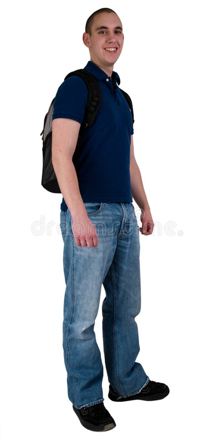 背包学员 免版税库存照片