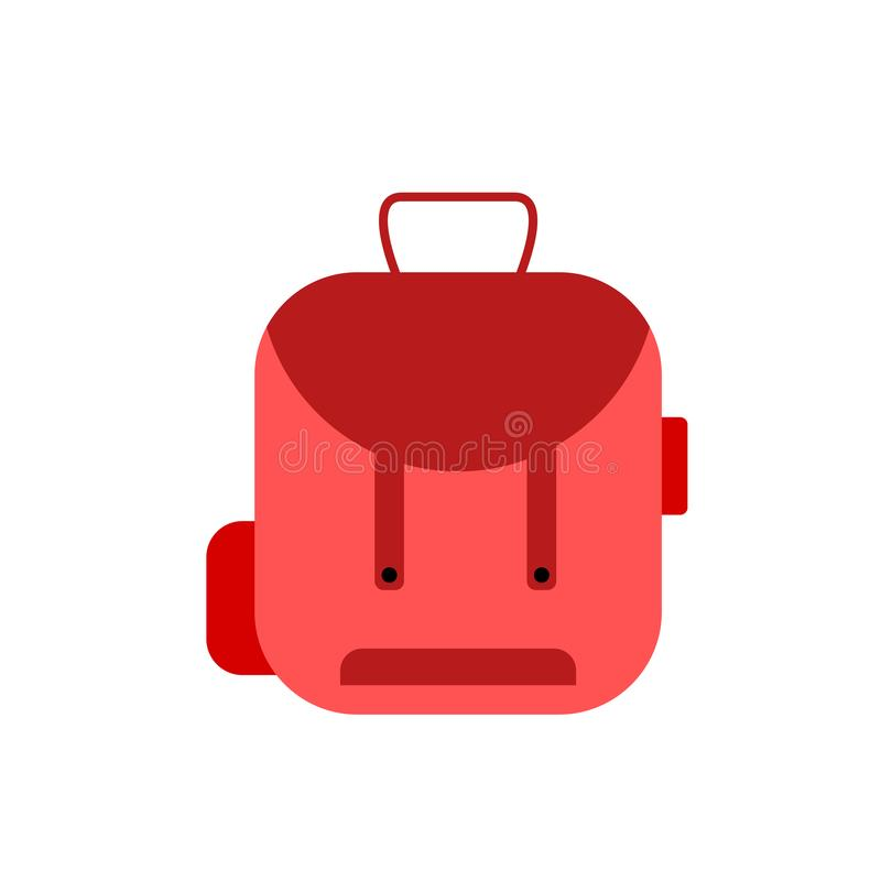背包象在白色背景和标志隔绝的传染媒介标志,背包商标概念 库存例证