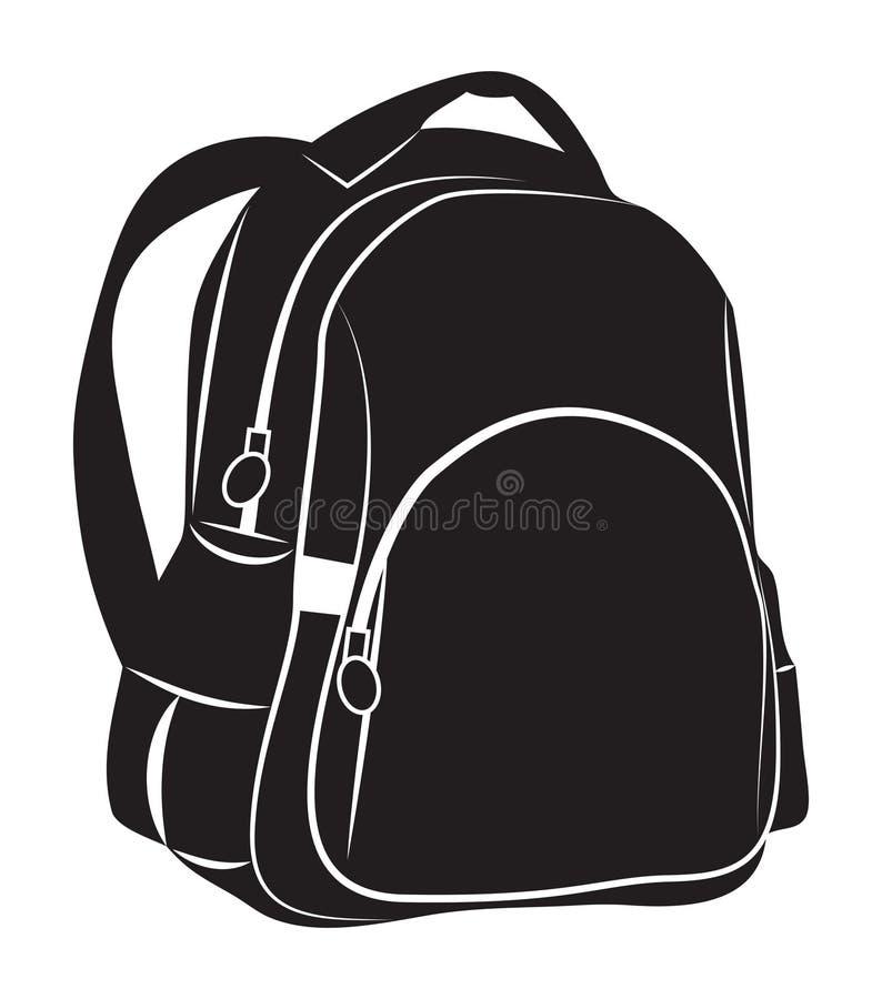 背包 向量例证