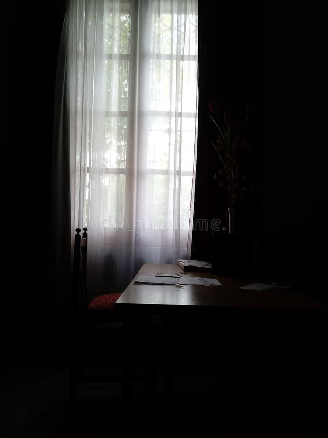 背后照明窗口 免版税库存图片
