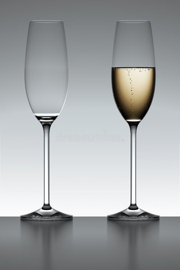 背后照明香槟槽 向量例证