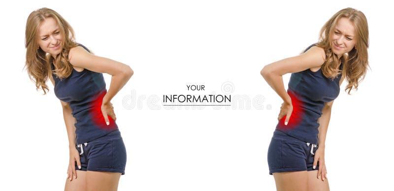 背心的美丽的少妇和短裤使她的被设置的样式痛苦 免版税库存照片