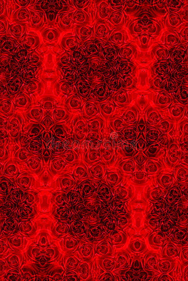 背景万花筒模式红色玫瑰色墙纸 库存照片