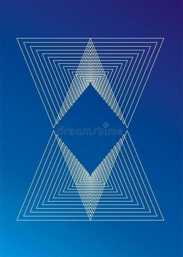 背景三角 向量例证