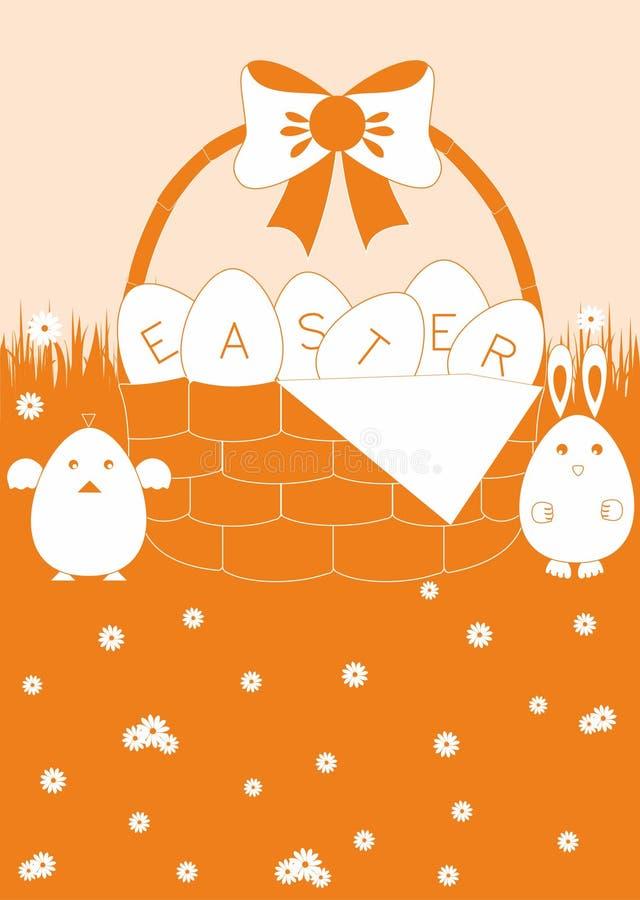 背景上色了复活节彩蛋eps8格式红色郁金香向量 库存照片