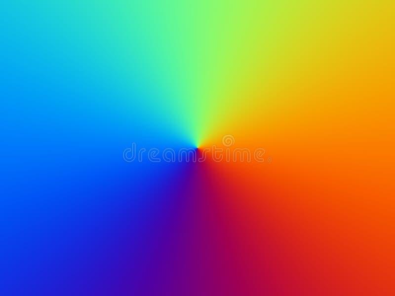 背景上色彩虹 库存例证