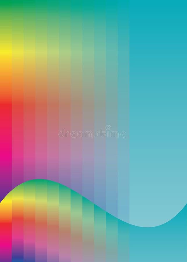 背景上色彩虹 向量例证