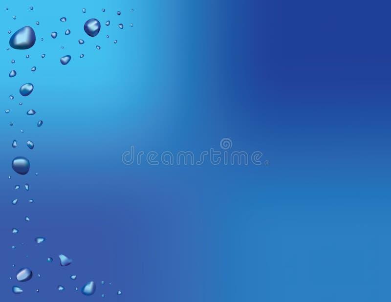 背景下落向量水 库存例证