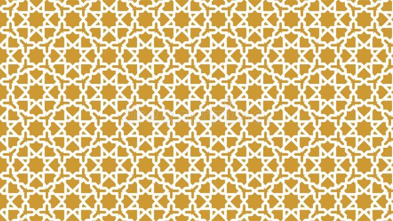 背景与和谐交错的形状、美好的颜色和有吸引力的颜色的美丽的伊斯兰教的装饰 库存图片