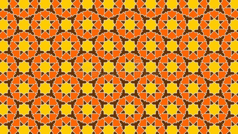 背景与和谐交错的形状、美好的颜色和有吸引力的颜色的美丽的伊斯兰教的装饰 免版税库存图片