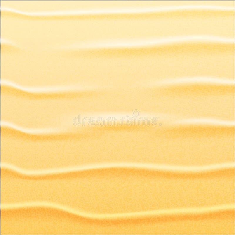 背景与波浪纹理的沙子黄色 图库摄影