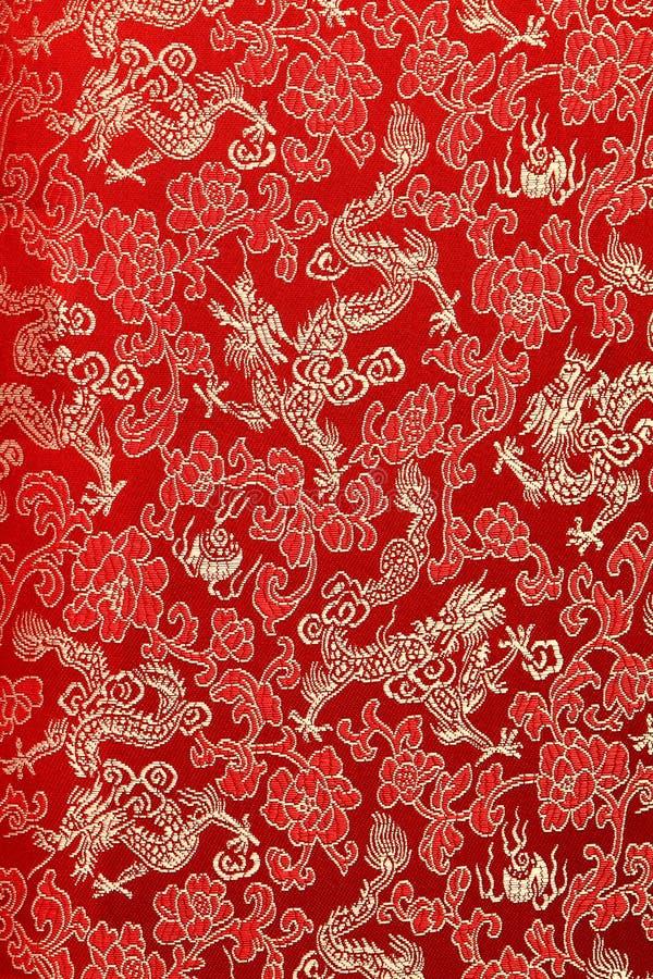 背景中国人丝绸 免版税库存照片