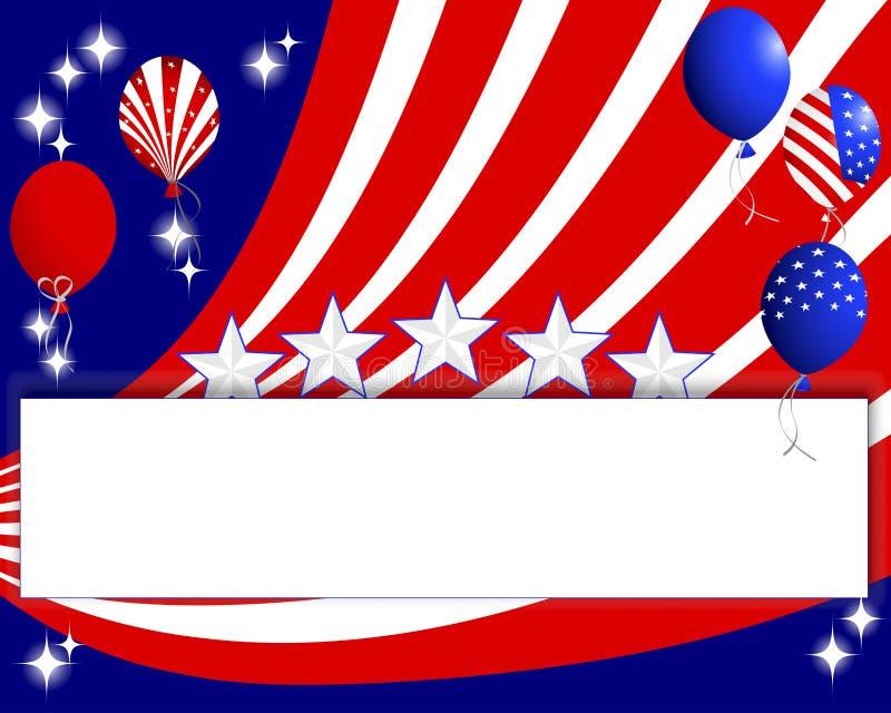 背景为美国国庆节。 向量例证