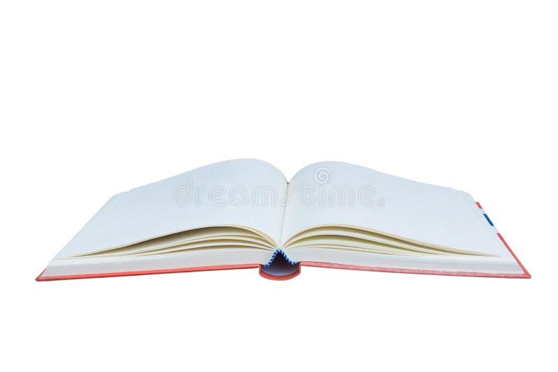 背景书查出的开放白色 图库摄影
