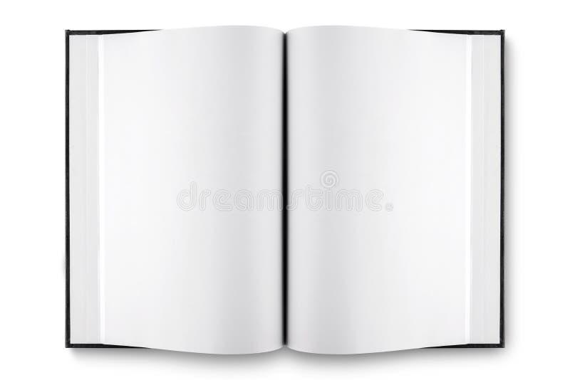 背景书查出的开放白色 免版税图库摄影