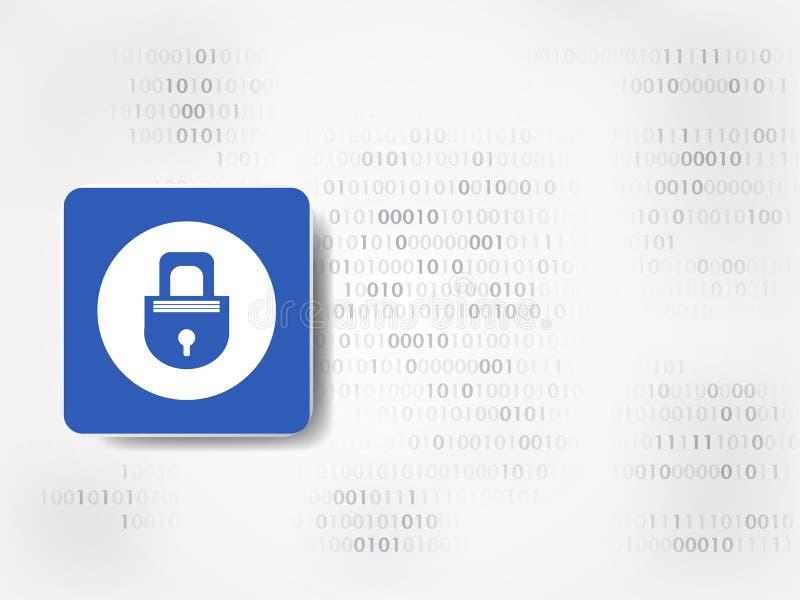 背景二进制代码地球电话行星技术 与数字的关键象在背景代表数字技术和工程学 概念范围挂锁安全 向量例证