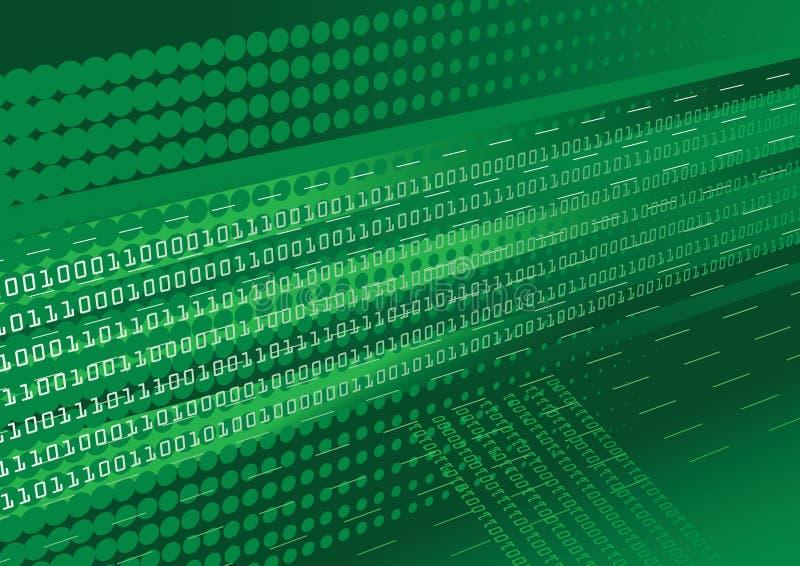 背景二进制代码绿色 皇族释放例证