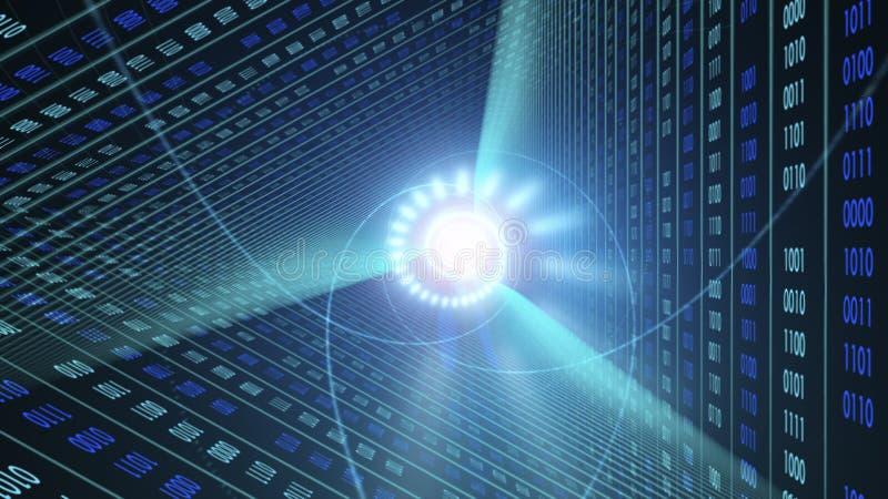 背景二进制代码 云彩计算,IOT和人工智能AI概念 库存例证
