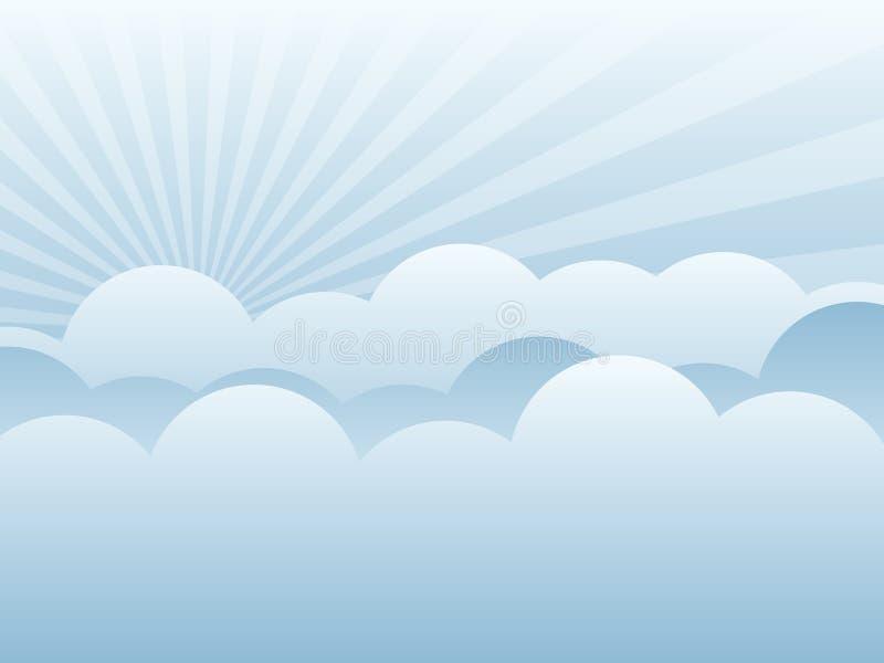 背景云彩eps 向量例证